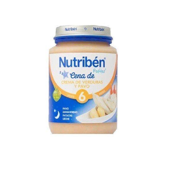 Potito Nutriben Cena Crema Verduras y Pavo +6 Meses 200 GR