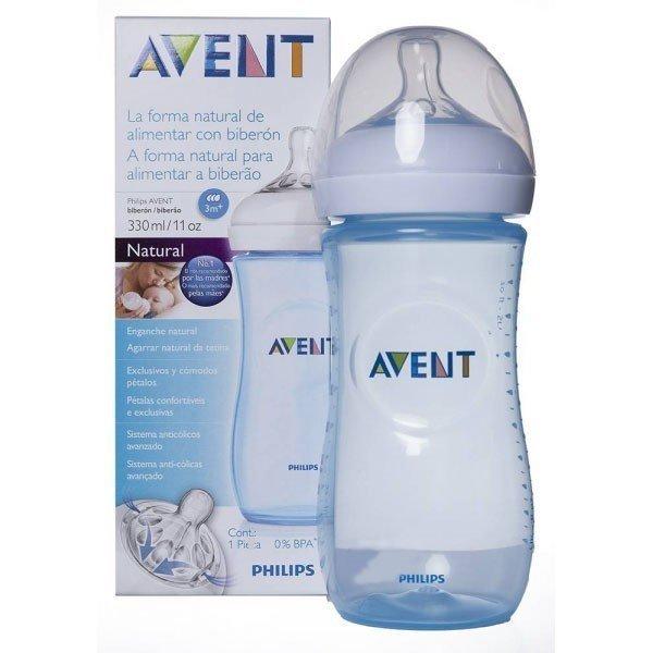 Avent biberón natural anticólico azul 330 ml