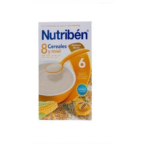Nutriben 8 Cereales con Miel y Galleta Maria 600 GR.