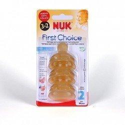 Tetina Nuk FC+ 2L látex 2 unidades