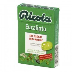 Ricola caramelo sin azúcar eucalipto 50gr