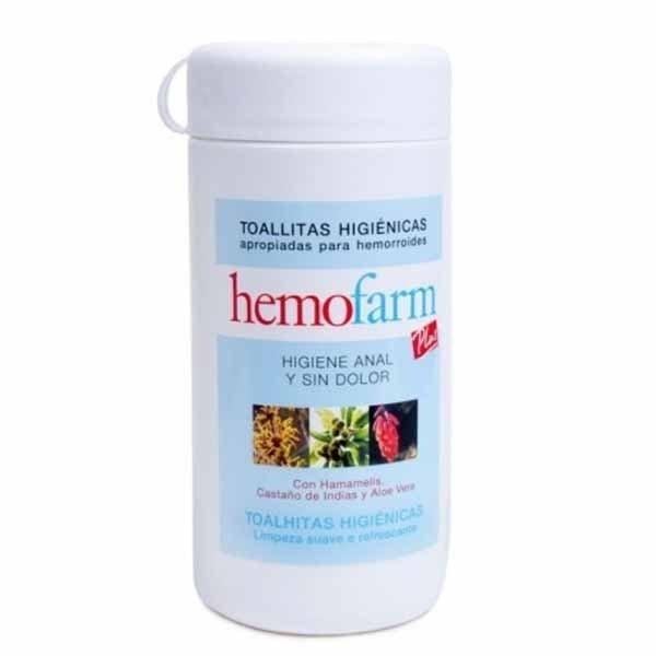 Hemofarm Plus 60 toallitas bote