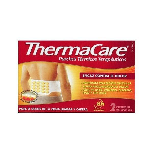 Thermacare parches lumbar y cadera 2 unidades