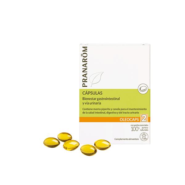 Oleocaps 2 Alivio Gastrointestinal y Urinario 30Caps. Pranarom