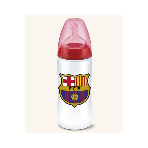 Biberón FC PA silicona Nuk Barcelona 6-18 300ml
