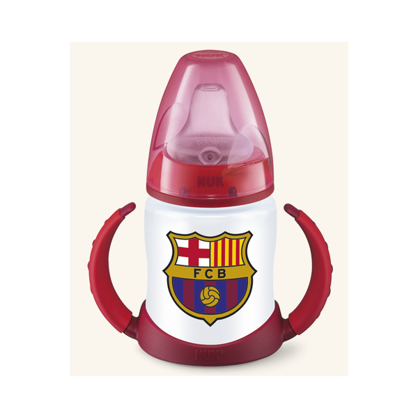 Biberón FC PA silicona Nuk Entrena Barcelona 0-6 150ml