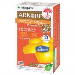 Arkoreal jalea real vitaminada sin azúcar 15 ml 20 unidades