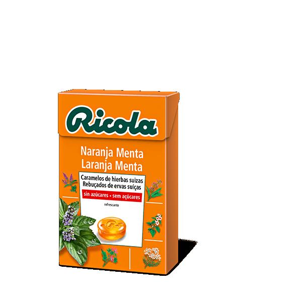 Ricola caramelo sin azúcar naranja 50gr