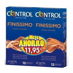 Control Finissimo preservativos 12 unidades 2 envases