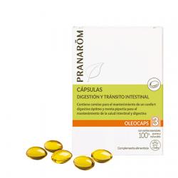 Oleocaps 3 Digestion y Transito Intestinal 30Caps. Pranarom