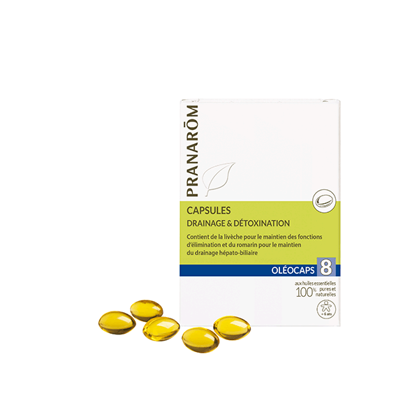 Oleocaps 8 Drenaje-Eliminacion de Toxinas 30Caps. Pranarom