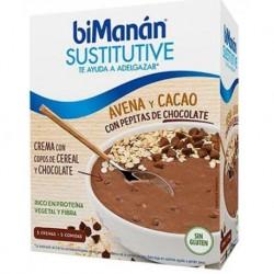 Bimanan Sustitutive Avena y Cacao con pepitas chocolate 55gr 5