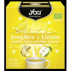 Yogi Tea te verde jengibre limón 12 bolsitas