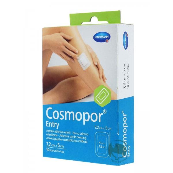 Cosmopor entry aposito esteril 10X8cm 10 unidades