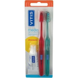 Cepillo dental Vitis Access medio Pack 2 unidades