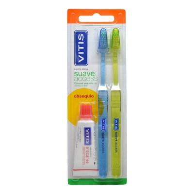 Cepillo dental Vitis Access suave Pack 2 unidades