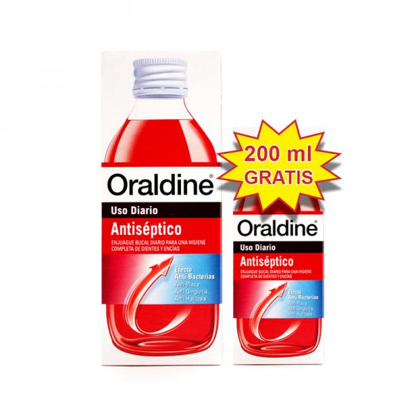 Oraldine antiseptico pack 400ml +200ml