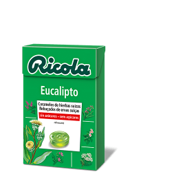 Ricola perlas sin azucar Eucaliptus 25gr
