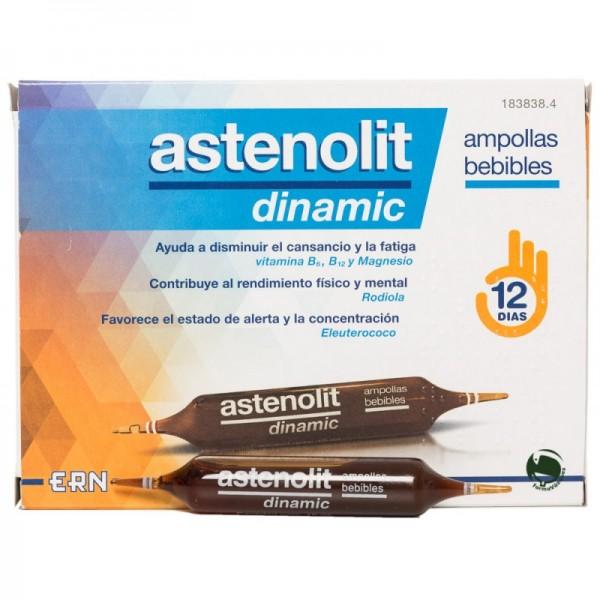 Astenolit Dinamic ampollas bebibles 12 unidades