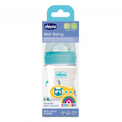 Biberón plástico tetina silicona Chicco Wellbeing Edicion