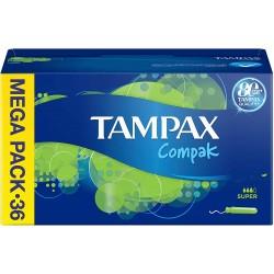 Tampones Tampax Ccompack super 36 unidades